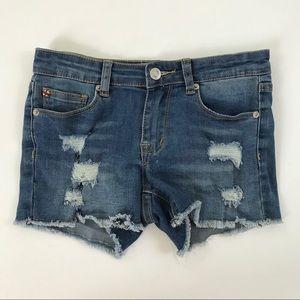 Hudson Girls' Distressed Denim Shorts 14